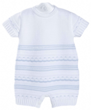 Baby Boys Knitted Spanish Pointelle Romper
